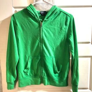 Boys Polo by Ralph Lauren Green Long Sleeve Hoodie